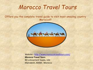 Tours To Morocco