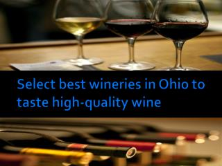 Select best wineries in Ohio to taste high-quality wine