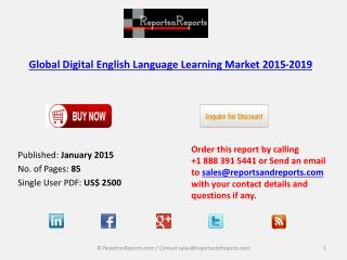 Global Digital English Language Learning Market 2015-2019