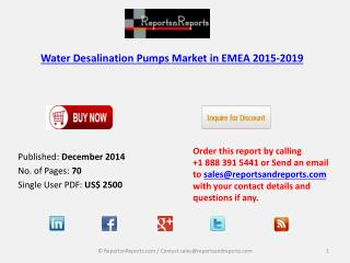 Water Desalination Pumps Market in EMEA 2015-2019