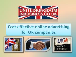 Cost effective online advertising for UK companies