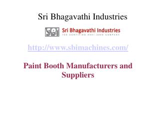 Paint Booth Manufacturers and suppliers