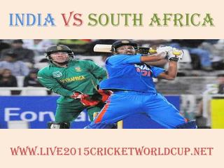 India vs South Africa Cricket WC match will be live telecast