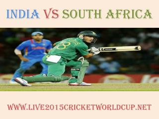 Watch India vs South Africa Cricket WC 2015 Live Streaming