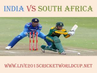 India vs South Africa Cricket WC Live Streaming