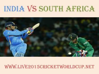 India vs South Africa, Live Streaming, HD, Cricket WC 2015