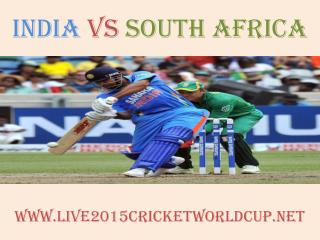 India vs South Africa live Cricket WC