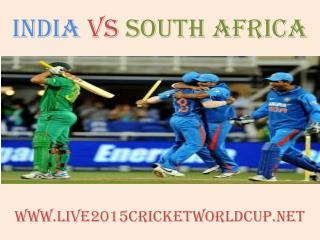 live Cricket match India vs South Africa on 22 Feb 2015 stre