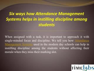 Attendance Management Systems