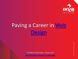 Web Design Training Institute in Hyderabad - Ikya Global Edu