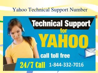 Call 1-844-332-7016 Yahoo Technical support for yahoo troubl