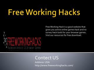 Free facebook game cheats and hacks