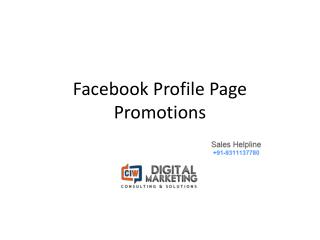Facebook Page promotions