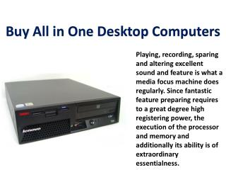 Buy All in One Desktop Computers