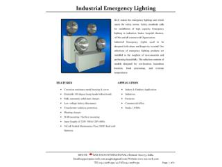 Industrial Emergency Lighting