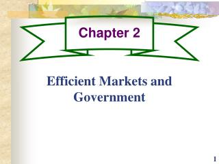 Efficient Markets and Government