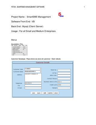 Smart SME Management Software