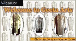 Get Wedding Sherwani from Reputed Sherwani Shops in London