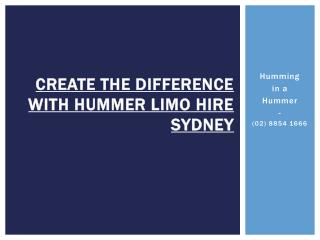 Search for a Cheap Hummer Limo Hire in Sydney