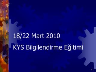 ISO 9001: 2008  Kalite Y netim Sistemi Egitimi nin Amaci