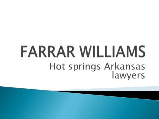 Hot springs Arkansas lawyers