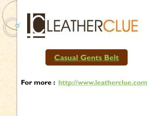 Casual Gents Belt