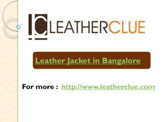 Leather Jacket in Bangalore