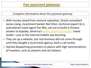 Full support information about fee payment gateway