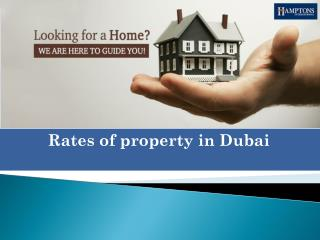 Rates of property in Dubai