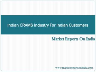 Indian CRAMS Industry - For Indian Customers