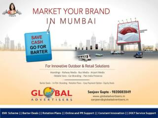 Barter Deals on Banner Ads in Mumbai - Global Advertisers