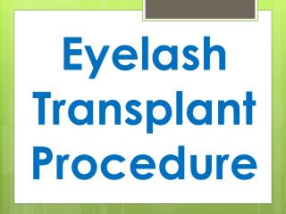 Eyelash Transplant Procedure