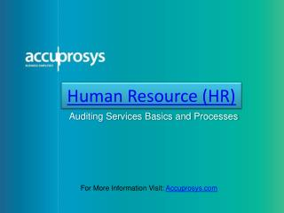 HR Audit Services - Accuprosys