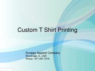 Custom T shirt Printing Using Any Type Of Techniques