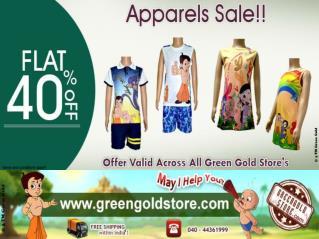 Flat 40% OFF | Chhota Bheem Apparels