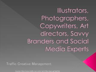 Creative illustrators, photographers and copywriters agency