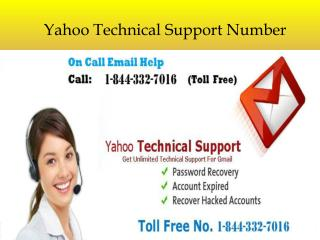 Call at-1-844-332-7016 Yahoo technical support