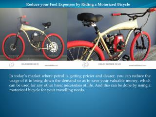 Reduce your Fuel Expenses by Riding a Motorized Bicycle