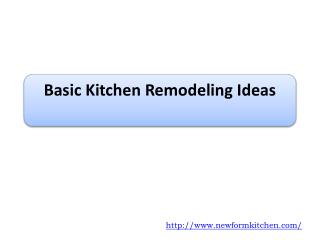 Basic Kitchen Remodeling Ideas