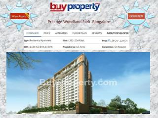 2 and 3 BHK Apartments at Prestige Woodland Park at Effectiv
