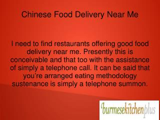 Chinese Food Delivery Near Me