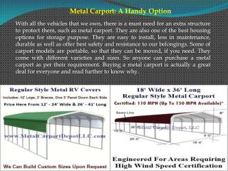 Metal Carport A Handy Option
