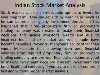 Indian Stock Market Analysis