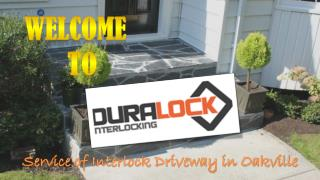 Service of Interlock Driveway in Oakville
