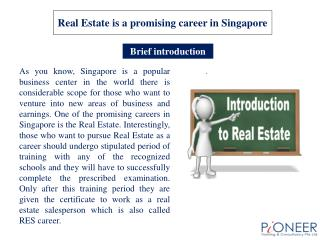 Real Estate is a promising career in Singapore