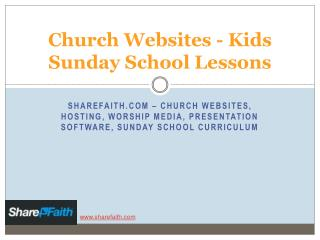 Sharefaith - kids sunday school lessons