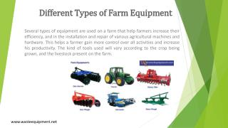 Different Types of Farm Equipment