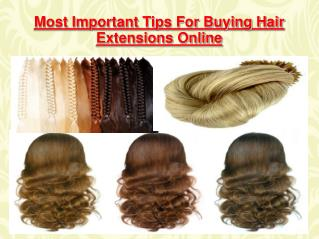 Most Important Tips For Buying Hair Extensions Online
