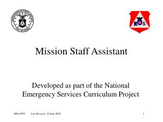 Mission Staff Assistant