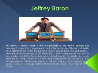 Jeffrey Baron Lawsuit
